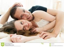 Lovely Couple In Bed Lying In Bedroom Couple Sleeping Hugging Bed Stock Photos Images Pictures 451