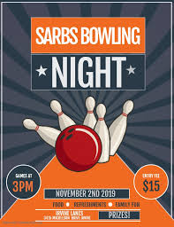 Bowling Event Flyer Sarbs Bowling Night Cwea Events