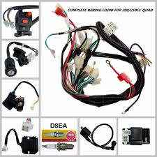 full wiring harness loom solenoid coil regulator cdi cc full wiring harness loom solenoid coil regulator cdi 150 200 250cc atv quad bike