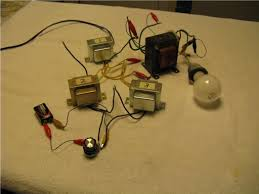 homemade magnetic amplifiers control of a l20 volt lamp using an output step up transformer