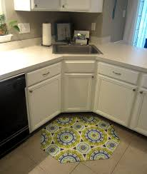 amazing selections of kitchen rug for corner sink