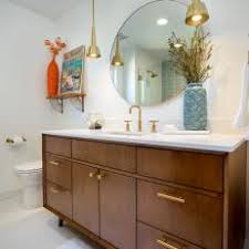 mid century bathroom. Gold, Midcentury Modern Pendant Lights Add Glam To Bathroom Remodel Mid Century