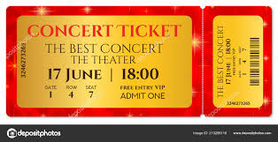 Show Ticket Template Ticket Template Concert Ticket Stars Tear Ticket Mockup Red Starry