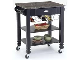 Kitchen Carts Caster Kitchen Island With Marble Top   Morris Home   Dining    Kitchen Island