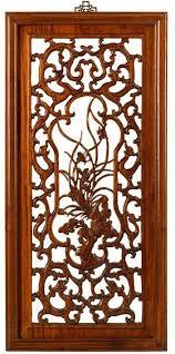 carved panel in warm elm summer