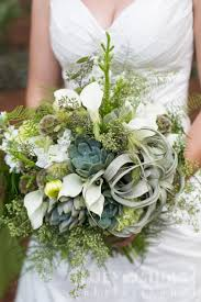 Succulent and tillandsia bridal bouquet -Seed to Stem- green weddings-  air-plants