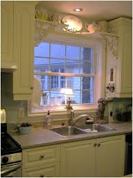 Kitchen Sink Shelf Over Window With Antique Brackets For The