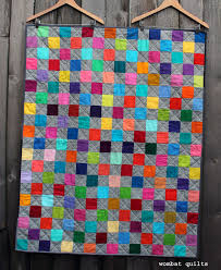 simple kids quilt | WOMBAT QUILTS & rainbow squares quilt Adamdwight.com