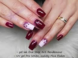 Gel Lak 4v1 One Step 10ml Podzimní červená Rendezvous