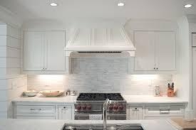 linear marble tile backsplash