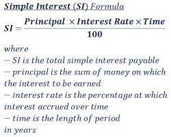 Monthly Principal And Interest Chart Simple Interest Si Calculator