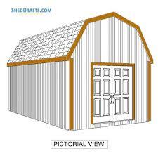 12x20 gambrel barn shed building plans blueprints 06 sidng trim installation