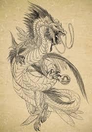 Sketch Of Dragon Tattoo By Archspirigvit On Deviantart Dragons In