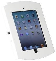 wall mount ipad has a locking enclosure