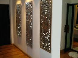 large carved wood wall decor multi panels oriental home fl art large wood monogram wall