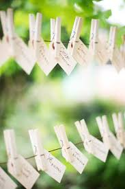 Handcrafted escort cards