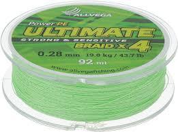 "<b>Леска</b> плетеная <b>Allvega</b> ""<b>Ultimate</b>"", цвет: светло-зеленый, 92 м, 0 ..."