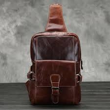 Hot <b>2019 New Fashion Genuine</b> Leather Bag Men Chest Pack ...