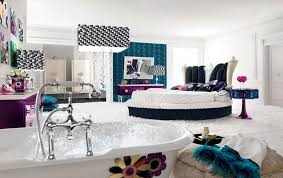 Shapely Bathtub In A Bedroom Teenage Girls White Bedroom Wall Color Cute  Bathub Flower Paint Abstract