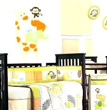 wildlife wall decals wildlife wall decals children decal nursery bedding stacked animals giraffe elephant rhino monkey