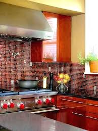 red tile backsplash red kitchen red tiles kitchen red glass tile backsplash pictures