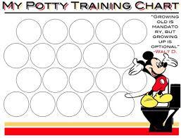 Potty Training Mickey Mouse Potty Training Chart