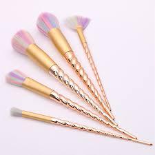unicorn makeup brushes rose gold. 1set new hot rose gold portable metal beauty brush unicorn makeup brushes c