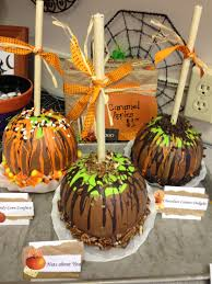 Caramel apple pumpkins I made for the pumpkin decorating contest at work.