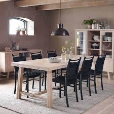 Massivholz Designer Tisch In White Wash Dioca