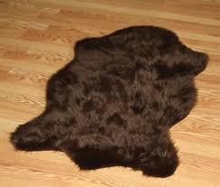 Faux Bearskin Rug Amazoncom Faux Animal Skin Hide Rug 43 X 63 Chocolate