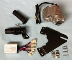 my1018 450w 24v gear brush motor with motor controller and twist throttle diy electric bicycle