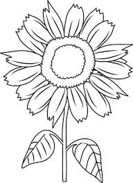 Small Picture Beautiful Sunflower Coloring Page Download Print Online