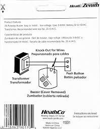 heath zenith wired door chime buzzer amazon com heath zenith doorbell wiring diagram Heath Zenith Doorbell Wiring Diagram #44
