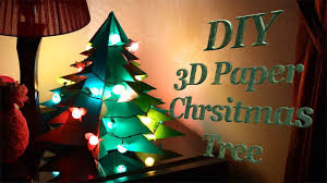 Paper Christmas Tree Lights Diy 3d Paper Christmas Tree
