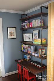 office shelf ideas. Diy Pipe Bookshelves And Desks, Diy, Home Office, Shelving Ideas Office Shelf T