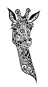 Tribal Giraffe Head Cross Stitch Chart