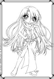 Small Picture Cute Anime Girls Coloring Pages Cute Anime Coloring Pages Cat
