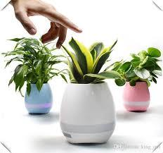 office flower pots. 2017 Smart Music Flower Pots \u0026 Bluetooth Speakers Home Office Decor Planter Plant Night Light Creative Toys Speaker Hire Mounting P