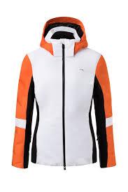 Ski Jacket Kjus Women Formula White Kjus Orange
