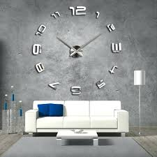 clocks huge wall clock the big large silver hanging on enormous designer india hangi large wall clocks