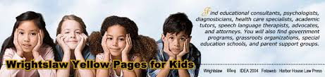 Wrightslaw Northern California Yellow Pages for Kids with Disabilities