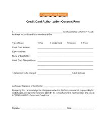 free credit card authorization form template 17