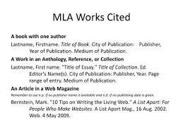 citations in mla format mla format works cited essays homework help pjhomeworktrfp
