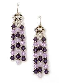 03 04 745 purple crystal chandelier earrings violet velvet
