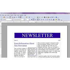 Office Newspaper Template Newspaper Template For Open Office