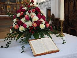 Image result for funeral church flowers