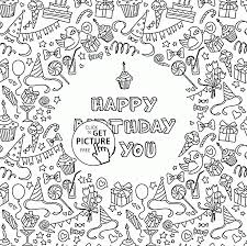 Small Picture Happy Birthday to You Greeting Card coloring page for kids