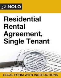 Residential Rental Agreement, Single Tenant - Nolo
