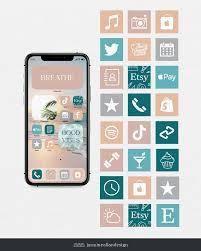 iOS 14 Summer Beach Aesthetic Icon Set ...
