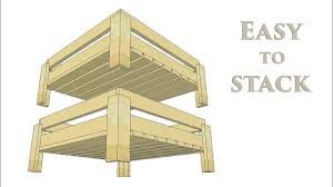 stackable wooden storage crates how to